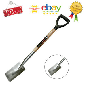 Stainless Steel Border Spade/Fork with Ash Shaft with Plastic Handle