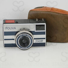 Kleinbildkamera (35mm SL-Kassette) Karl Pouva AG, Pouva  SL100 mit Tasche