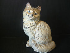 Antique Cast Iron Seated Cat Heavy Doorstop Statue Possibly Hubley Nice Patina!
