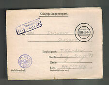 1943 Germany England Army POW Camp Ltr Cover Stalag 344 Palestine Abed Ahmed