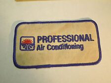 Vintage Professional Air Conditioning Sunrise Sunset Logo Iron On Patch