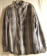 4673319ee3 Ecko Unltd blanco y negro cuadros de estilo occidental 100% algodón mezcla  Camisa Talla M