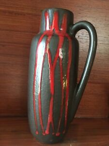 West Germany Vase Red And Brown 275-20 Retro Vintage Vase Jug