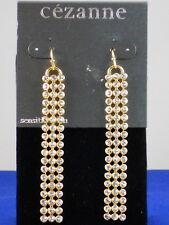 Crystal Mesh Linear Drop Earrings Cezanne Dillards Sensitive Skin Goldtone Bezel