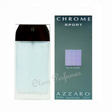 Azzaro Chrome Sport For Men Edt Spray 3.4oz 100ml * New in Box *