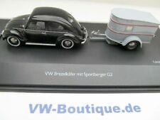 + VOLKSWAGEN VW Käfer 1200 Brezel Sportberger Anhänger Schuco 1:43 450389100