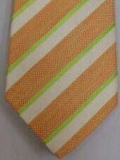 "Kiton Napoli Mens 7 Fold Handmade Silk Stripe Tie NEW 59"" X 3.5"" SKU B32/71 $290"