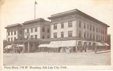 PEERY HOTEL Broadway, Salt Lake City, Utah ca 1920s Vintage Postcard