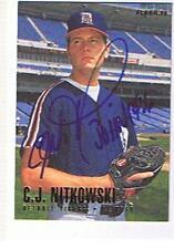 1996 FLEER # 118 C.J.NITKOWSKI AUTOGRAPHED CARD, TIGERS.