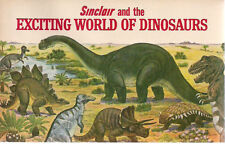 THE EXCITING WORLD OF DINOSAURS (1967) Sinclair illustrated color booklet