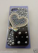 for Iphone 5  phone case black Heart  bling Claires fits i phone 5 pre