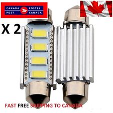 2 X CANBUS White 41mm 42mm 4 SMD LED 5050 Car Festoon Interior Light Bulbs Dome