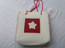 NEW  Star Cream/Red  Gift Bag   Super to Fill with Christmas Gifts ?