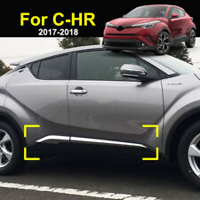 For Toyota C-HR CHR 2017 2018 Chrome Door Side Body Molding Trim Cover Protector