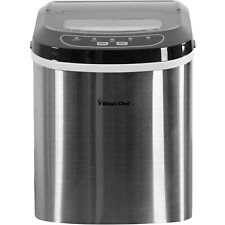 Magic Chef Mcim22St Portable Countertop Ice Maker, 27 Pounds, Stainless Steel