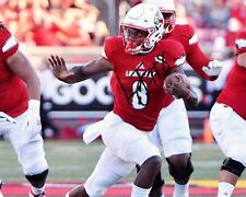 Lamar Jackson Louisville Cardinals Football Signed 8X10 Photo Auto Rp Stiff Arm