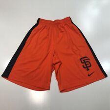 San Francisco Giants Nike Dri Fit Mens Shorts Orange Elastic Waist S