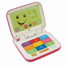 Fisher-Price Laugh & Learn Smart Stages Laptop, Pink/White