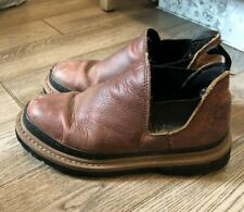 WESTERN CHIEF Brown Leather Platform Ankle Boots Mens Size 8.5