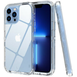 For iPhone 12,13 Pro 13 Pro Max Case Clear Heavy Duty Shockproof Defender Cover