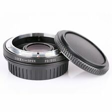 Canon FD Lens to EOS EF Body Mount Adapter ring Infinity focus With glass