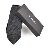 cravate en laine hommes tweed à chevrons cravates de laine Entreprise mariage 1