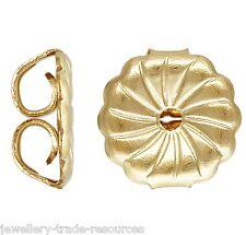 2x 14ct Gold Filled Earring Butterfly Backs Scrolls  9.4mm x 9.2mm