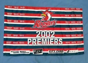 SYDNEY ROOSTERS 2002 PREMIERS  FLAG
