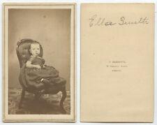 CDV STUDIO PORTRAIT OF BABY ELLA SMITH FROM BOSTON, MASS, BY BARBOUR