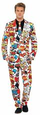 Comic Strip Suit - Dress Mens Fancy Stand out Costume Stag Party Do Funny Suits