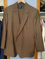 Hart Schaffner Marx Men's 46R Blue Striped Wool 2 Piece Suit With Pants 38Wx31L