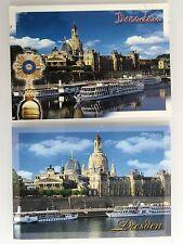 Schiff-Fahrt 2x Schiffsfoto Postkarte Ansichtskarten DRESDEN Elbe Binnen-Schiffe