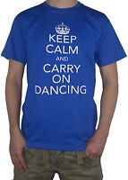 NEW Dancing T-Shirt - Keep Calm and Carry on -  Funny Disco Dance Party Club Top
