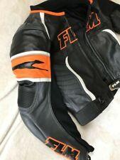 FLM Lederjacke Diablo Gr. 54 wie NEU! KTM Orange Motorradjacke Leather Jacket