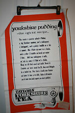 VINTAGE LINEN TOWEL YORKSHIRE PUDDING  NEW WITH TAGS!!