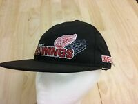 Detroit Red Wings NHL Hockey Ball Cap Adjustable Hat Black NEW tags Shadow logo