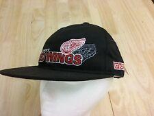Detroit Red Wings NHL Hockey Ball Cap Adjustable Hat Black NEW tags Shadow logo