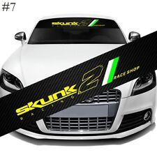 "SKUNK2 Front Window Windshield Carbon Fiber Vinyl Banner Decal Sticker 51"""