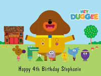 HEY DUGGEE EDIBLE PREMIUM ICING BIRTHDAY PARTY CAKE DECORATION IMAGE TOPPER