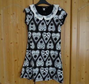 Rat Baby Clothing Goth Bodycon Mini Dress Top Ouija Lace Collar Size M