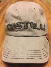 CASTELLI PODIUM CASUAL ADJUSTABLE BASEBALL CAP / HAT, GRAY (ONE SIZE)