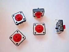 S01 - 10 Stk. Miniatur-Taster  Drucktaster  Eingabetaster 12x12x7 mm  12V