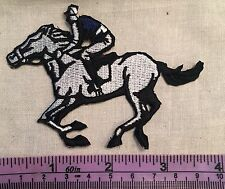 HORSE BACK RIDING EQUESTRIAN RACING JOCKEY IRON ON SEW ON EMBROIDERED PATCH