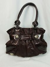 Kathy Van Zeeland Belt Shopper Handbag Brown Purse Shoulder Bag Chocolate