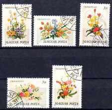 Flore - Roses Guinée équatoriale (113) série complète de 7 timbres oblitérés