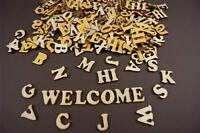 250+ Wooden Small (2cm) Adhesive Letter & Digits Craft Alphabet Decoration NF48