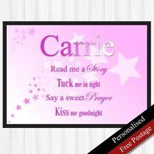 Baby Girls Birthday Gifts Personalised. Keepsake Gifts Girl. Nursery. PRINT ONLY
