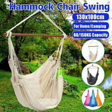 Patio Porch Hanging Rope Chair Garden Swing Seat Indoor Outdoor Camping Hammock