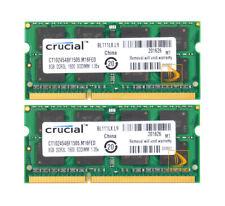 Crucial 2X 8GB 2Rx8 PC3L-12800S DDR3L 1600 MHz SODIMM RAM Speicher For Intel  #e