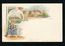Egypt Souvenir de CAIRE CAIRO Citadel chromo-litho unused c1902 u/b PPC